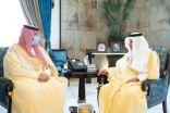 """""""خالد الفيصل """"يستقبل رئيس الهيئة العامة للموانئ بالمنطقة"""